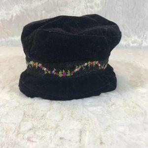 Gymboree Black Velvet Infant Hat Flower band